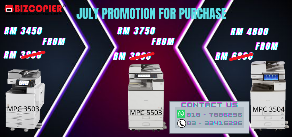 JULY PROMOTION FOR PURCHASE